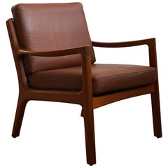 Midcentury Teak Lounge Chair, Senator Series, Ole Wanscher for France and Son