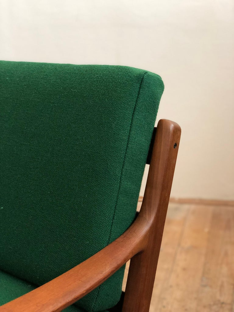 Mid Century Teak Lounge Chair, Senator Series, Ole Wanscher for Poul Jeppesen For Sale 3
