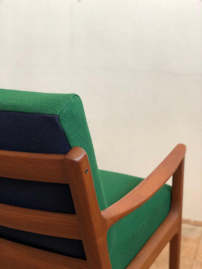 Mid Century Teak Lounge Chair, Senator Series, Ole Wanscher for Poul Jeppesen For Sale 4