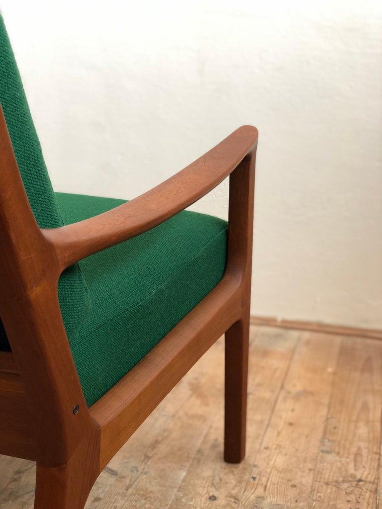 Mid Century Teak Lounge Chair, Senator Series, Ole Wanscher for Poul Jeppesen For Sale 5