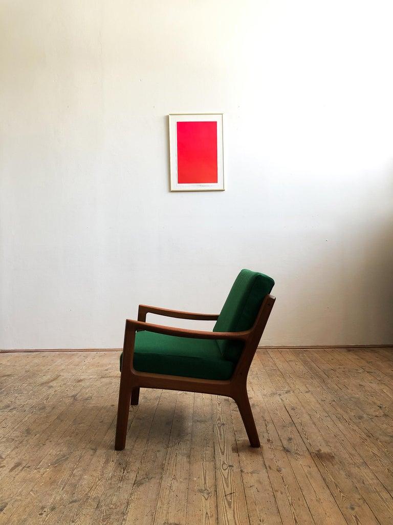 Danish Mid Century Teak Lounge Chair, Senator Series, Ole Wanscher for Poul Jeppesen For Sale