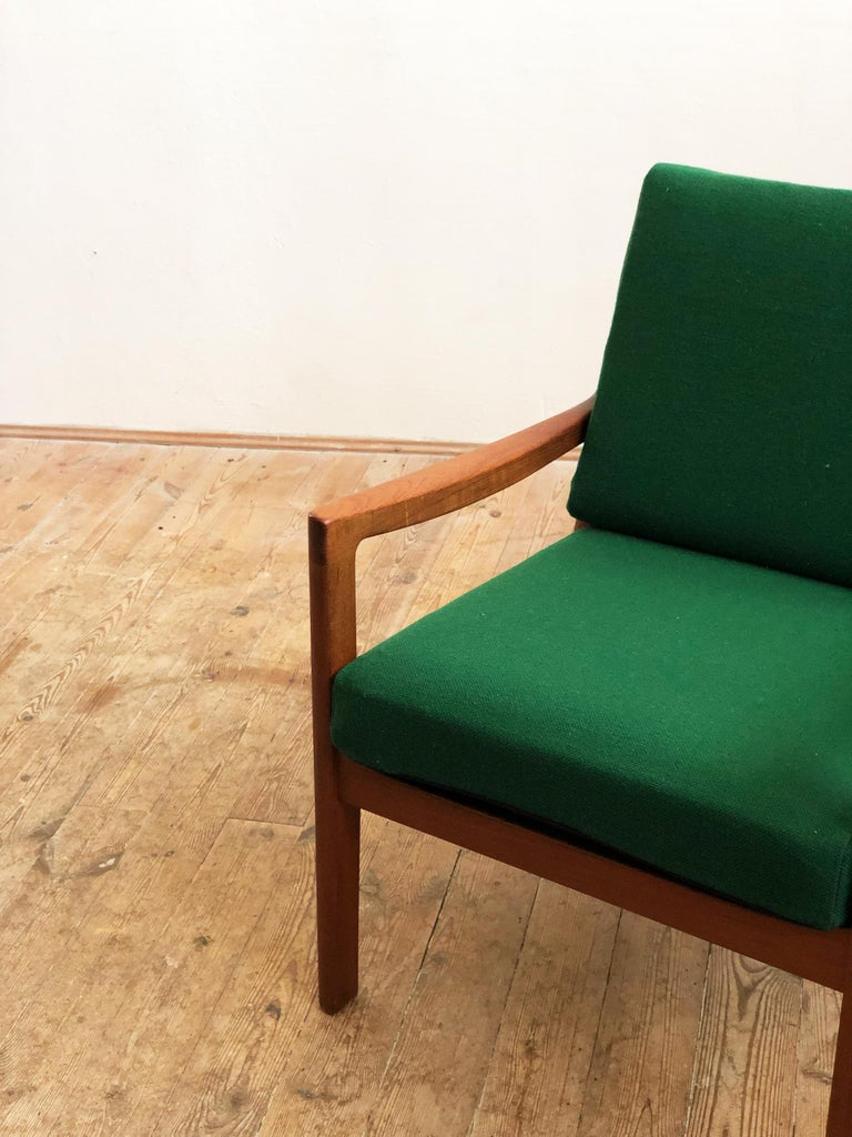 Mid Century Teak Lounge Chair, Senator Series, Ole Wanscher for Poul Jeppesen In Good Condition For Sale In Munich, Bavaria