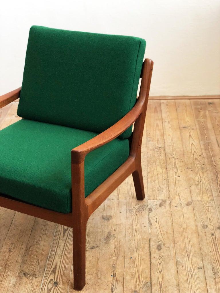 20th Century Mid Century Teak Lounge Chair, Senator Series, Ole Wanscher for Poul Jeppesen For Sale