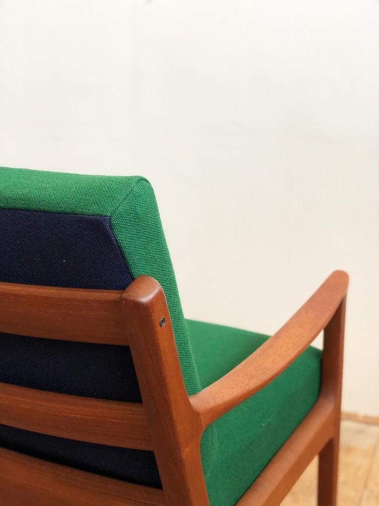 Mid Century Teak Lounge Chair, Senator Series, Ole Wanscher for Poul Jeppesen For Sale 1