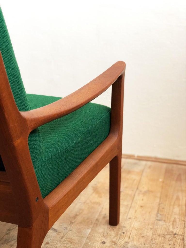 Mid Century Teak Lounge Chair, Senator Series, Ole Wanscher for Poul Jeppesen For Sale 2
