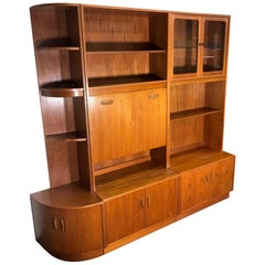 Midcentury Teak Modular Wall Unit by G Plan