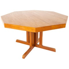 Mid Century Teak Octagonal Dining Table