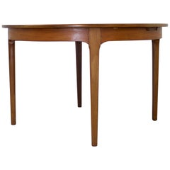 Midcentury Teak Round Extendable Dining Table from Nathan, 1960s