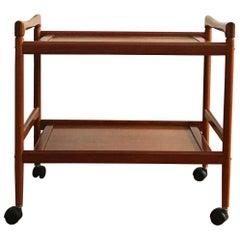 Midcentury Teak Serving Cart or Bar Trolley by Dyrlund