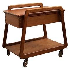 Midcentury Teak Serving Cart or Bar Trolley by Sika Møbler