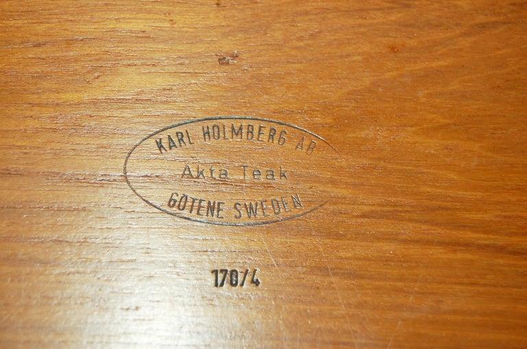 Mid-20th Century Midcentury Teak Serving Tray by Karl Holmberg Gotene 4 of 170, Sweden For Sale