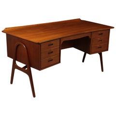 Midcentury Teak SH 180 Desk by Svend Madsen, circa 1950