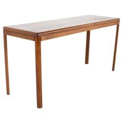 Mid Century Teak Sofa Foyer Entry Console Table