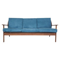 Mid-Century Teak Sofa with New Uphosltery, the Netherlands, 1960's