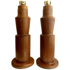Midcentury Teak Table Lamps