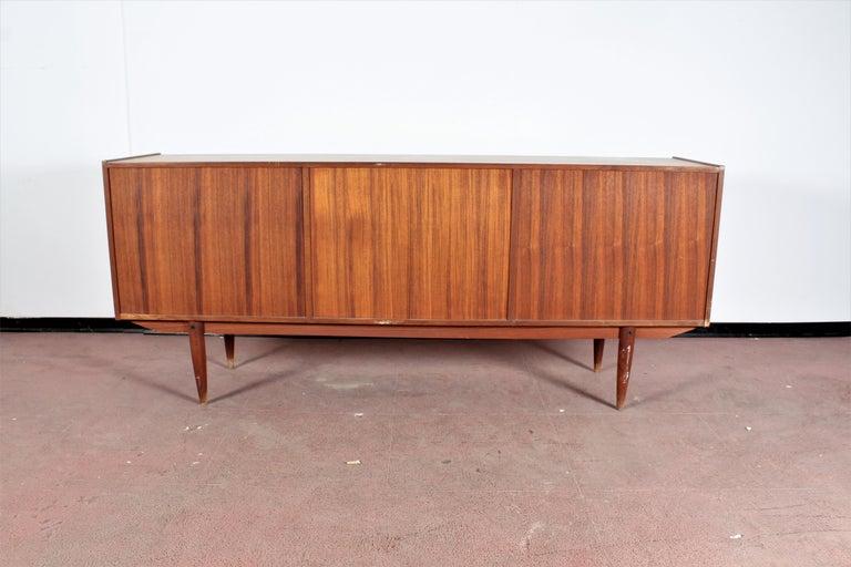 Midcentury Teak Vintage Sideboard Danish Design, 1960s For Sale 8