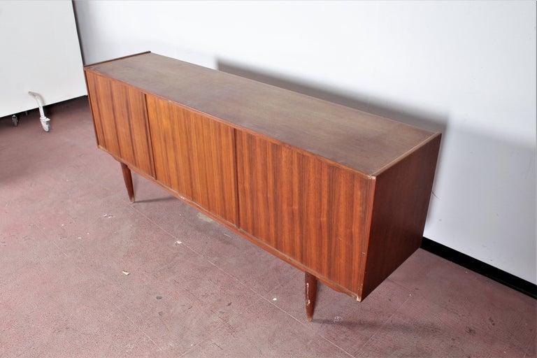 Midcentury Teak Vintage Sideboard Danish Design, 1960s For Sale 9