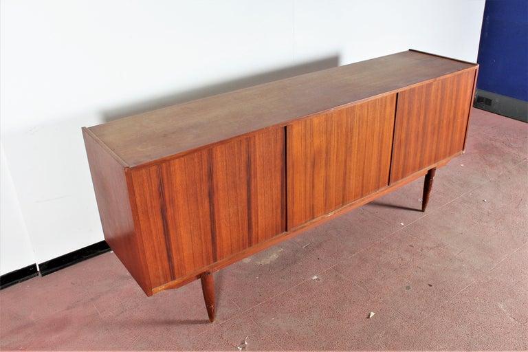 Midcentury Teak Vintage Sideboard Danish Design, 1960s For Sale 10