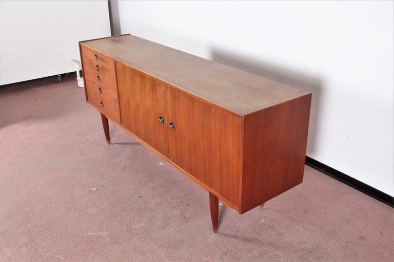 Mid-Century Modern Midcentury Teak Vintage Sideboard Danish Design, 1960s For Sale
