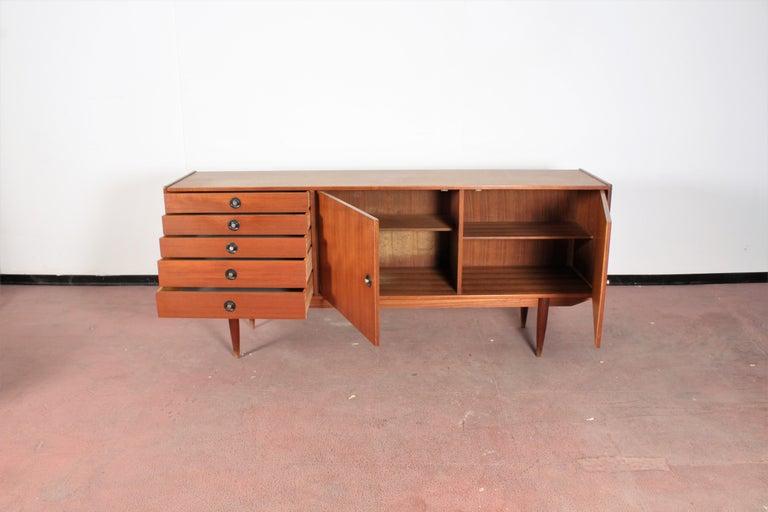 Italian Midcentury Teak Vintage Sideboard Danish Design, 1960s For Sale