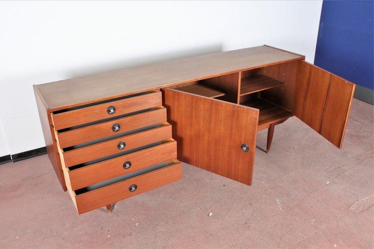 Midcentury Teak Vintage Sideboard Danish Design, 1960s In Good Condition For Sale In Palermo, IT