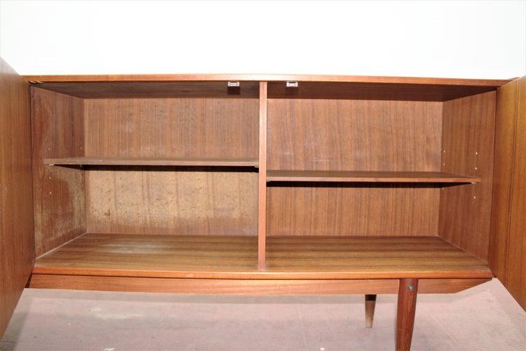 Wood Midcentury Teak Vintage Sideboard Danish Design, 1960s For Sale