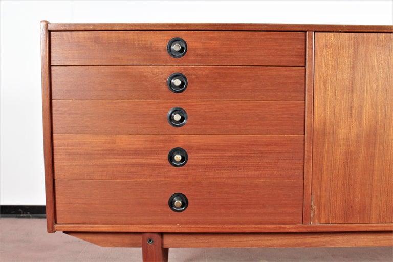 Midcentury Teak Vintage Sideboard Danish Design, 1960s For Sale 2