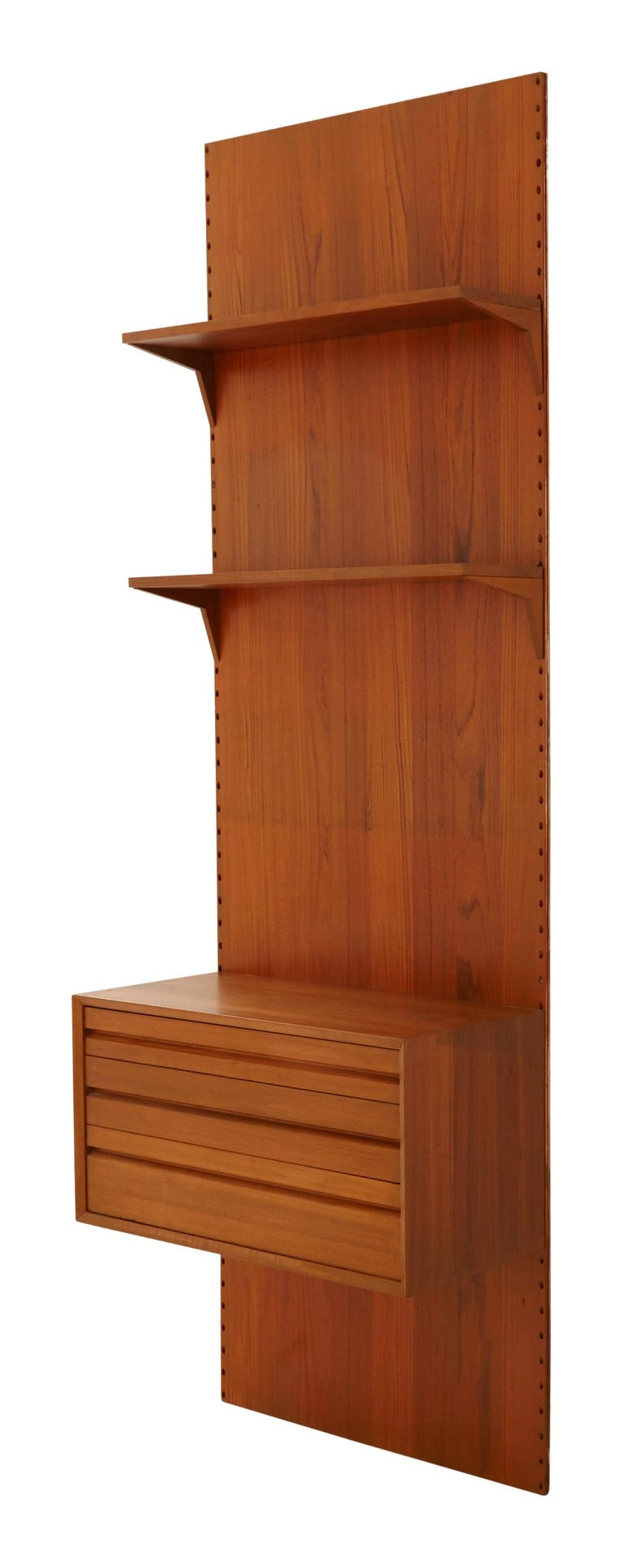 """•Mid-20th century •Teak wood •Mountable •Designed by Poul Cadovius for Cado •France •Other coordinating pieces available •Measures: 31.5"""" W x 16"""
