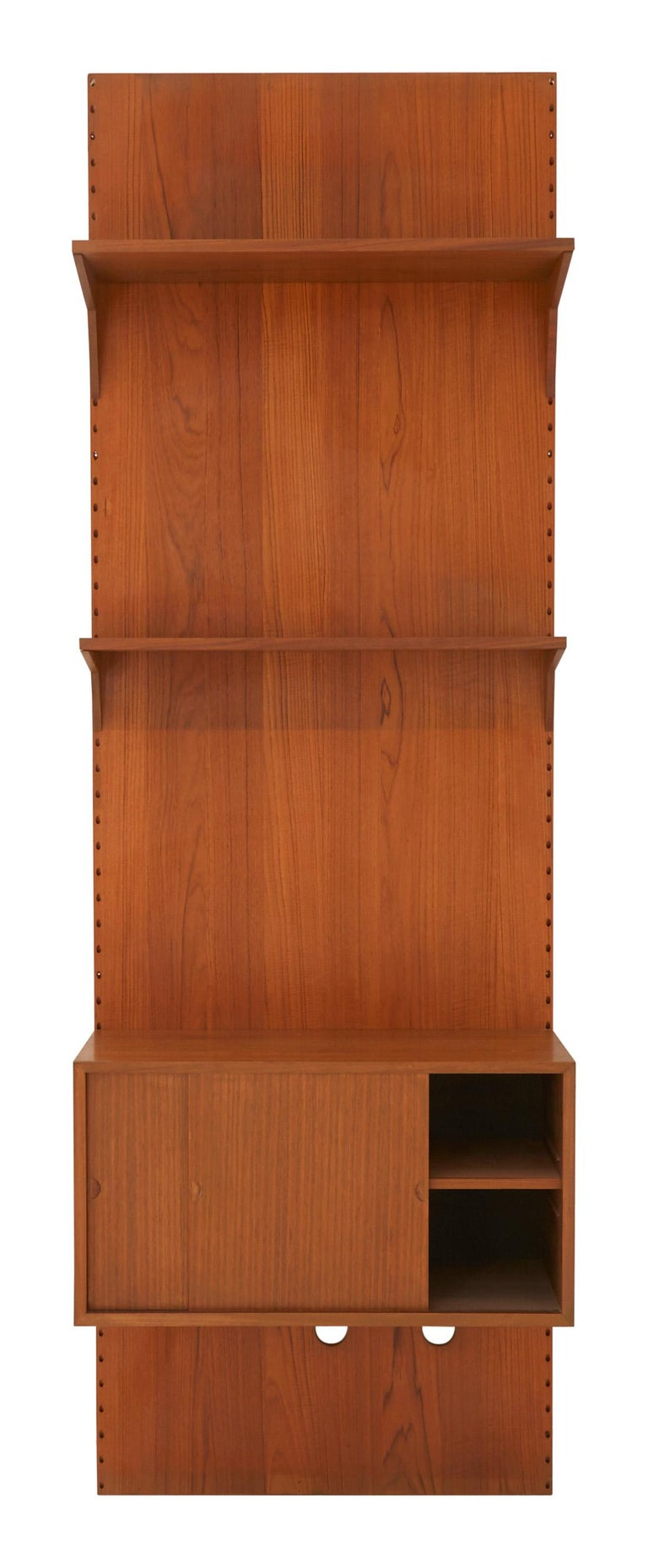 Mid-Century Modern Midcentury Teak Wall Shelving Unit For Sale