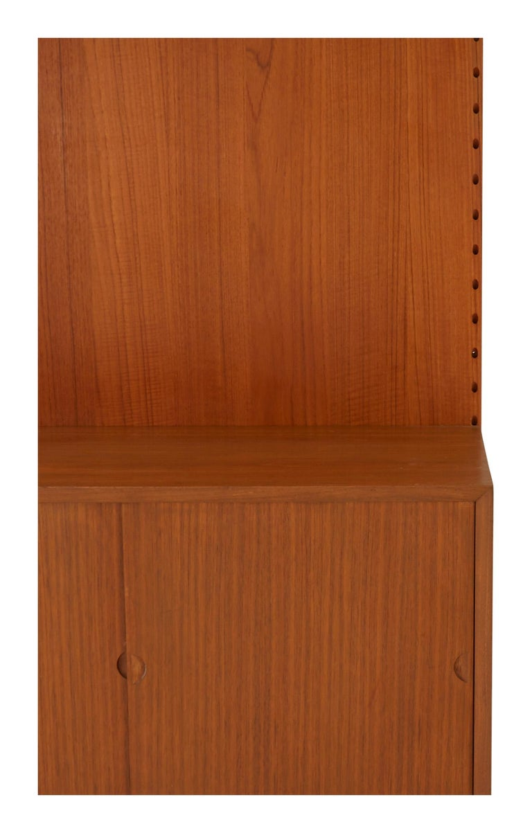 20th Century Midcentury Teak Wall Shelving Unit For Sale
