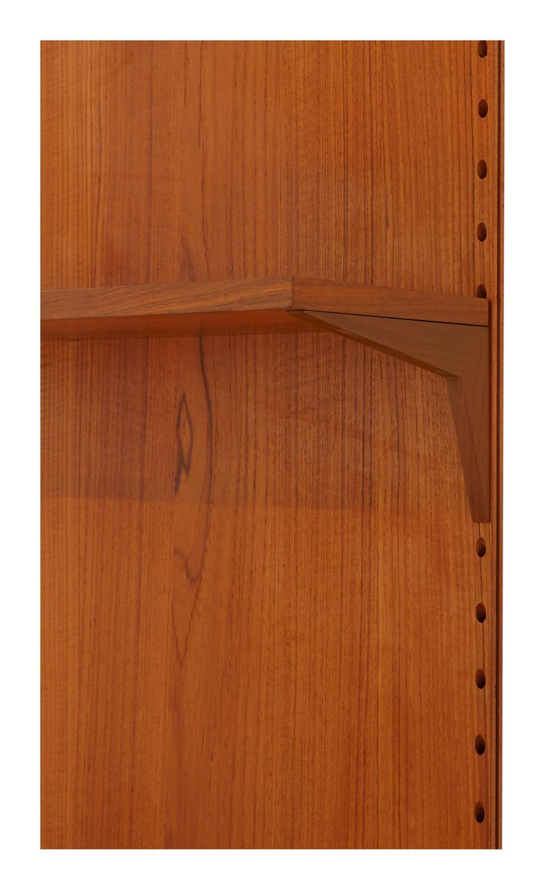 Midcentury Teak Wall Shelving Unit For Sale 1