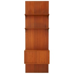 Midcentury Teak Wall Shelving Unit