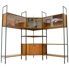 Midcentury Teak Wall Shelving Unit from Avalon