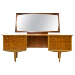 Midcentury Teak and Walnut Dressing Table by Gimson & Slater for Vesper, 1960s