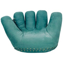 Mid-Century Teal BluePoltronova Joe Chair by De Pas, D'Urbino, Lomazzi, 1970