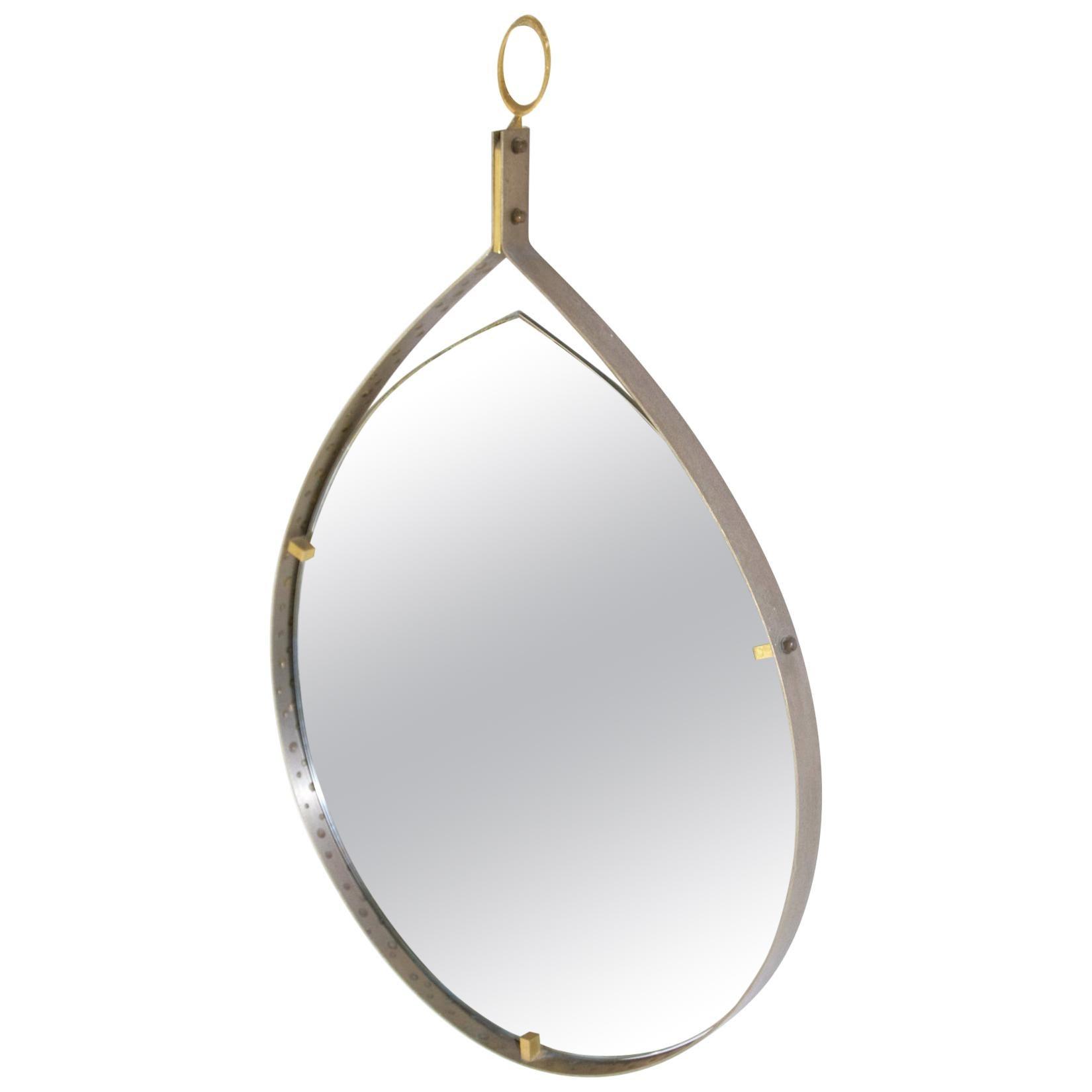 Midcentury Teardrop Mirror, Italy