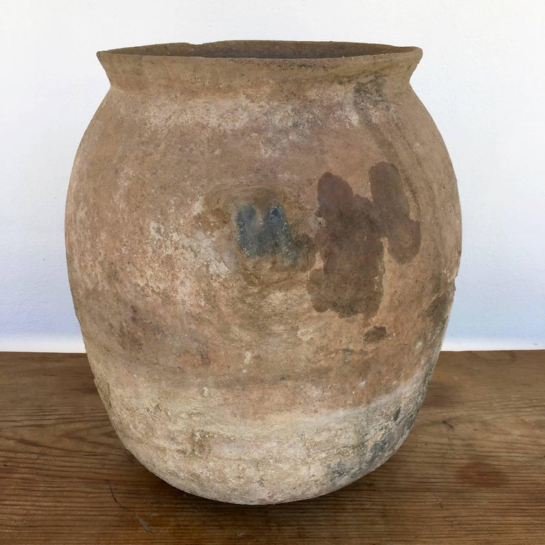 Rustic Terracotta Pot from Mexico For Sale