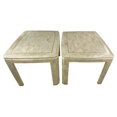 Mid-Century Tessellated Side Tables by Maitland Smith, a Pair
