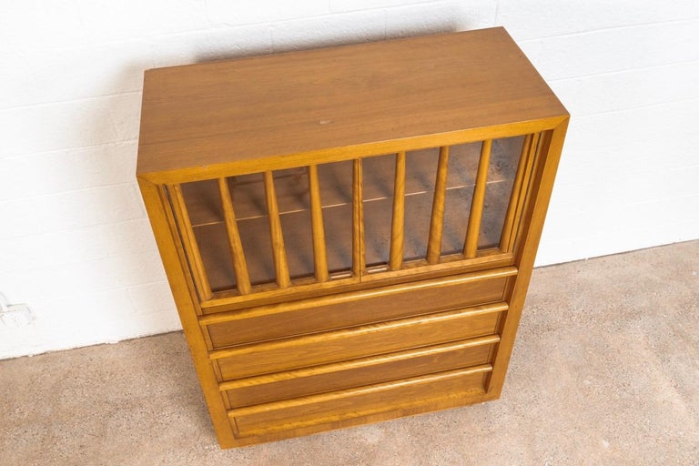 Mid-20th Century Midcentury T.H. Robsjohn-Gibbings for Widdicomb Walnut Secretary Cabinet, 1950s For Sale