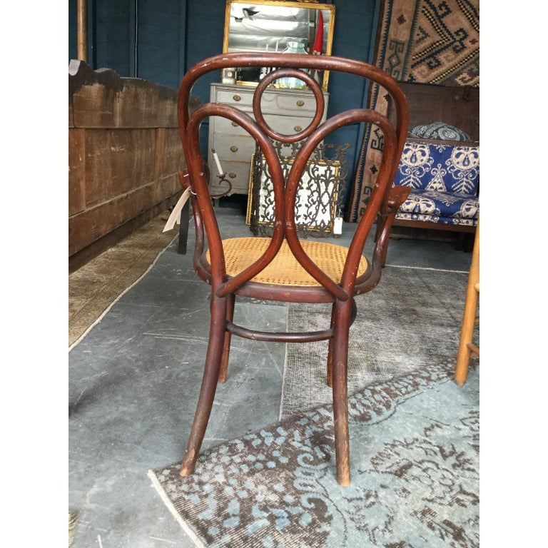Midcentury Thonet Bistro Bentwood Armchair In Good Condition For Sale In Los Angeles, CA