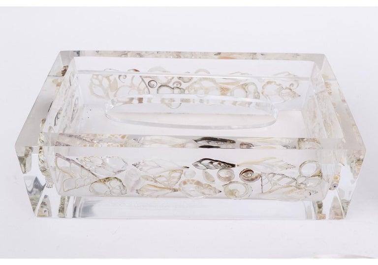 Mid-Century Modern Midcentury Three-Piece Lucite Powder Room Set For Sale