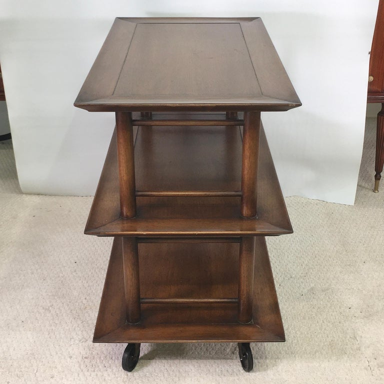 Midcentury Three-Tier Bar Serving Trolley Cart For Sale 4