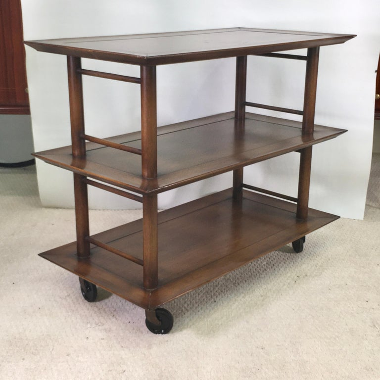 Midcentury Three-Tier Bar Serving Trolley Cart For Sale 5