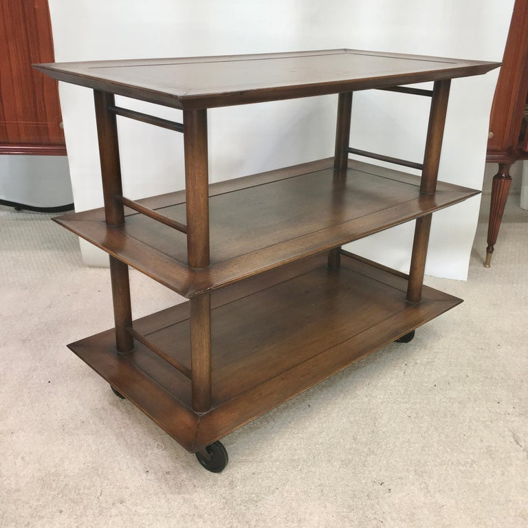 Midcentury Three-Tier Bar Serving Trolley Cart For Sale 7