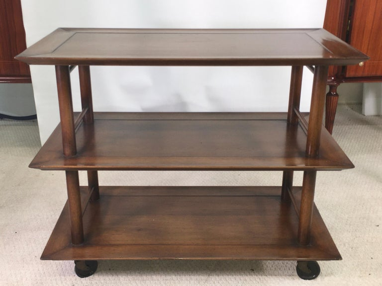 Mid-20th Century Midcentury Three-Tier Bar Serving Trolley Cart For Sale