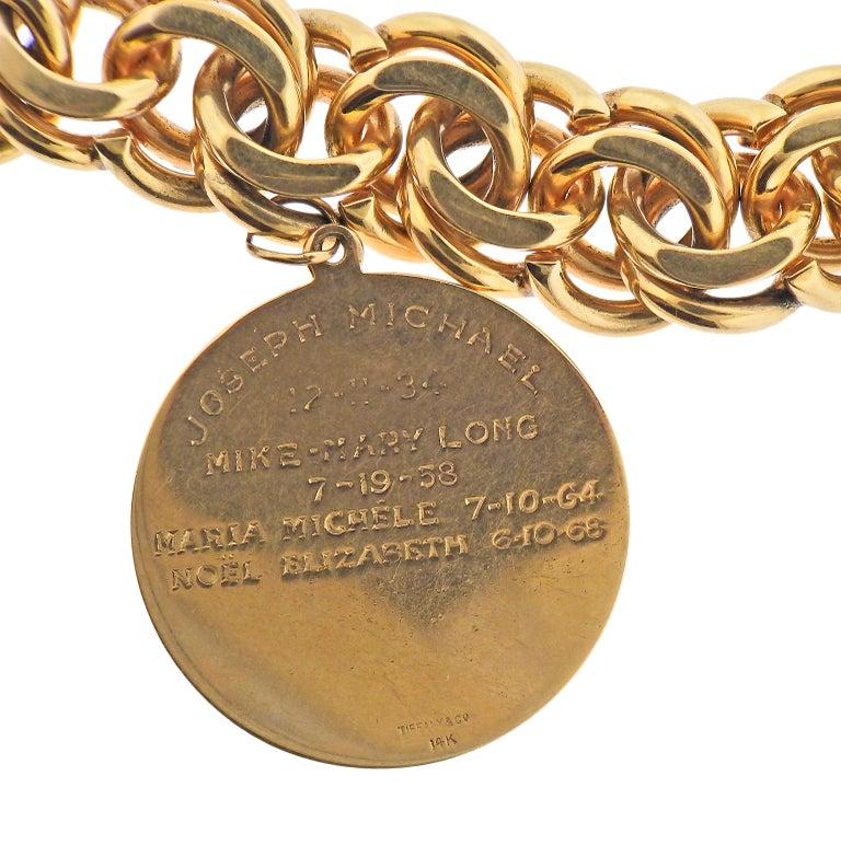 Women's or Men's Midcentury Tiffany & Co. Charm Bracelet For Sale