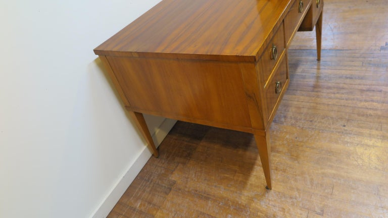 Mid-20th Century Midcentury Tiger Wood Desk For Sale