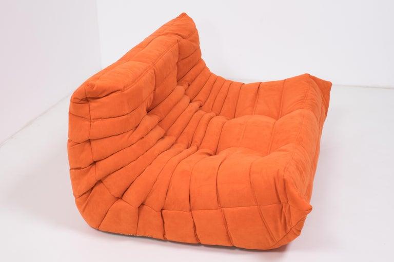 French Midcentury Togo Orange Sofa by Michel Ducaroy for Ligne Roset For Sale