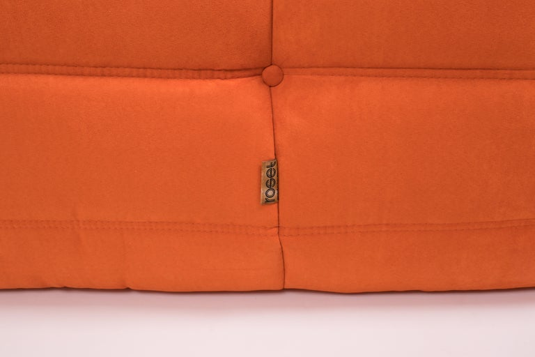 Midcentury Togo Orange Sofa by Michel Ducaroy for Ligne Roset For Sale 1