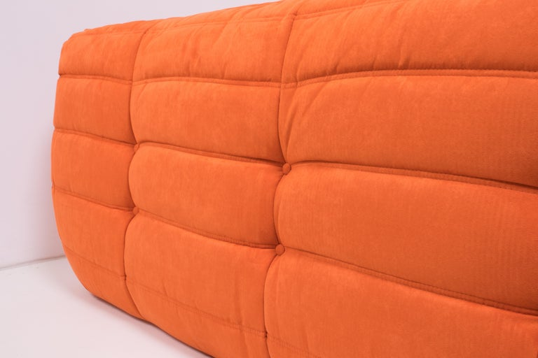 Midcentury Togo Orange Sofa by Michel Ducaroy for Ligne Roset For Sale 2